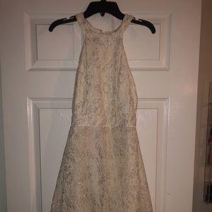 White and Silver B. Darlin Dress